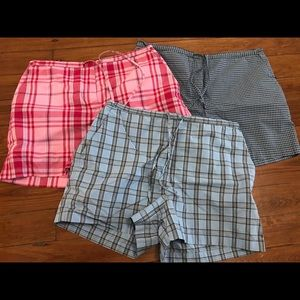 "Set of 3–""Limited"" Brand Plaid Shorts (size 12)"